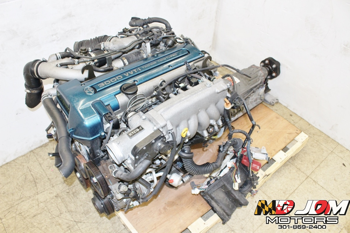 JDM 98-01 Toyota 2JZ-GTE VVTI Engine Twin Turbo 3.0L Inline 6 Motor Aristo Supra – MD JDM MOTORS